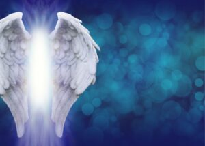 angelic wings background